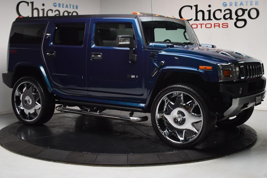 2008_HUMMER_H2 Carfax Certified 28 Lexanis_Near Perfect Ultra Marine Blue_ Chicago IL