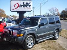 JEEP COMMANDER OVERLAND 4X4, CARFAX CERTIFIED, 3RD ROW,  SUNROOF, NAVIGATION, BACK UP CAM, HEATED LEATHER, LOW MILE 2008