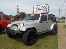 JEEP WRANGLER UNLIMITED SAHARA 4X4, AUTOCHECK CERTIFIED, BRUSH GUARD, LIFTED, BLUETOOTH, TOW PKG, ONLY 65K MILES! 2008