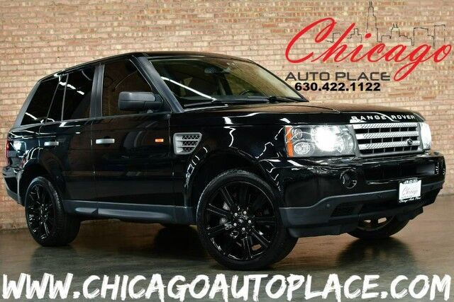 2008 Land Rover Range Rover Sport SC- 4.2L SUPERCHARGED V8 ENGINE 4 WHEEL DRIVE NAVIGATION PARKING SENSORS BLACK LEATHER HEATED SEATS SUNROOF XENONS Bensenville IL