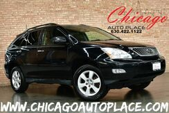 2008_Lexus_RX 350_3.5L V6 ENGINE ALL WHEEL DRIVE BLACK LEATHER HEATED SEATS SUNROOF WOOD GRAIN INTERIOR TRIM POWER LIFTGATE_ Bensenville IL