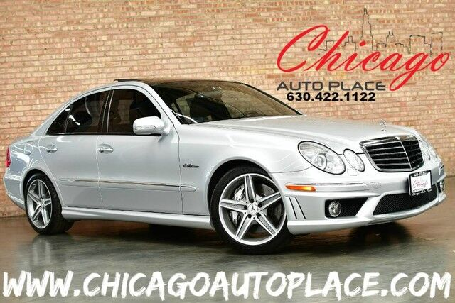 2008 Mercedes-Benz E-Class E63 AMG - 6 3L AMG V8 ENGINE REAR WHEEL DRIVE  BLACK LEATHER HEATED/COOLED SEATS NAVIGATION KEYLESS GO PANO ROOF XENONS  AMG