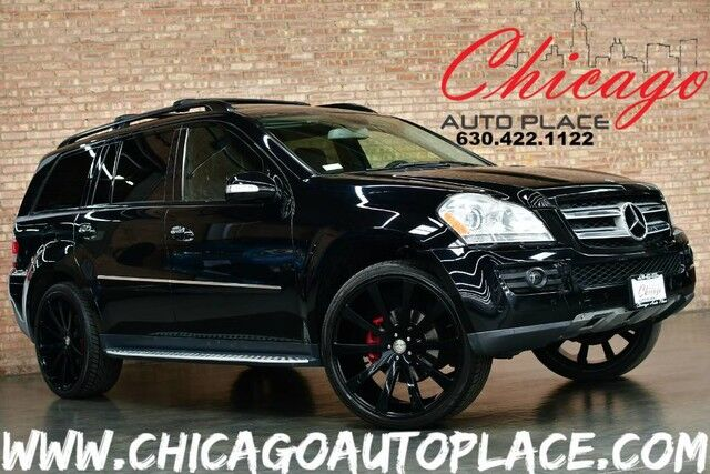 2008 Mercedes-Benz GL 450 4MATIC - 4.6L V8 ENGINE BLACK LEATHER HEATED SEATS REAR TVS 3RD ROW PREMIUM BLACK WHEELS SUNROOF Bensenville IL