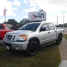 NISSAN TITAN PRO 4X OFF ROAD CREW CAB 4X4, CARFAX CERTIFIED, BLUETOOTH, TOW PACKAGE, TONNEAU COVER, LOW MILES! 2008