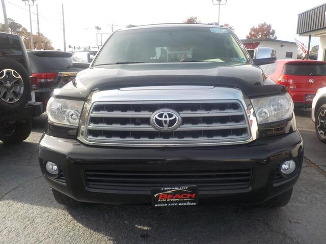 2008 TOYOTA SEQUOIA LIMITED, BUYBACK GUARANTEE, WARRANTY, LEATHER, HEATED SEATS, SUNROOF, 3RD ROW, CAPTAINS CHAIRS! Norfolk VA