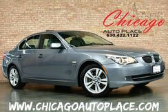2009_BMW_5 Series_528i xDrive - AWD PREMIUM PACKAGE COLD WEATHER PACKAGE NAVIGATION HEATED GRAY LEATHER SUNROOF WOOD GRAIN INTERIOR TRIM XENONS HEATED STEERING WHEEL_ Bensenville IL