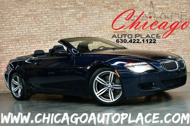 2009 BMW M6 CONVERTIBLE - 5.0L 500HP V10 ENGINE REAR WHEEL DRIVE BLACK LEATHER HEATED SEATS CARBON FIBER INTERIOR TRIM NAVIGATION PARKING SENSORS XENONS Bensenville IL