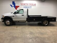 2009_Dodge_Ram 4500_SLT Flatbed 6.7L Turbo Diesel Tow Package Cab Lights_ Mansfield TX