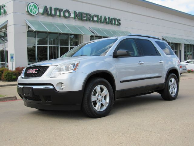2009 Gmc Acadia Sle 1 Fwd Cloth Seats 3rd Row Seating Am Fm Radio Aux Input Cd Player Plano