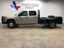 2009_GMC_Sierra 3500HD 4x4 Crew Cm Skirted Flat Bed Welding Bed_DRW Work Truck_ Mansfield TX