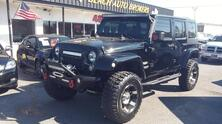 JEEP WRANGLER UNLIMITED SAHARA 4X4, AUTOCHECK CERTIFIED, LIFTED, WINCH , SAT, NAV, PREMIUM WHEELS, VERY CLEAN! 2009
