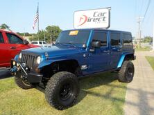 JEEP WRANGLER UNLIMITED SAHARA 4X4, AUTOCHECK CERTIFIED, NAVIGATION, WINCH, LIFTED, TOW PACKAGE! 2009