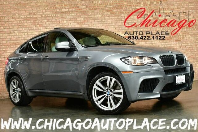 2010 BMW X6 M 4.4L HPI TURBOCHARGED V8 ENGINE ALL WHEEL DRIVE 1 OWNER NAVIGATION TOP VIEW CAMERAS SILVERSTONE GRAY LEATHER HEATED SEATS HEADS-UP DISPLAY XENONS Bensenville IL