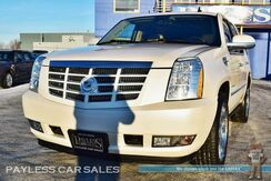 2010_Cadillac_Escalade_Premium / AWD / Heated Front & Rear Leather Seats / Heated Steering Wheel / Sunroof / Navigation / Rear Entertainment / Auto Start / 3rd Row / Seats 7 / Power Running Boards / Tow Pkg_ Anchorage AK