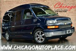 2010_Chevrolet_Express_Limited SE - 5.3L VORTEC FLEX-FUEL ENGINE REAR WHEEL DRIVE GRAY LEATHER HEATED SEATS BACKUP CAMERA LARGE REAR TV/DVD CAPTAINS CHAIRS_ Bensenville IL