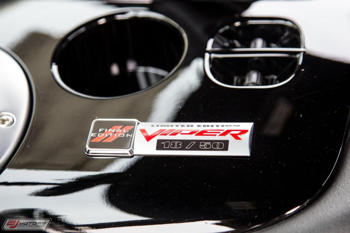 2010 Dodge Viper SRT-10 Final Edition Aero Coupe 1 of 1 Tomball TX