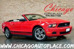 2010_Ford_Mustang_CONVERTIBLE V6 - 4.0L V6 ENGINE REAR WHEEL DRIVE TAN LEATHER SPORT SEATS BLACK CONVERTIBLE SOFT TOP MICROSOFT SYNC BLUETOOTH_ Bensenville IL