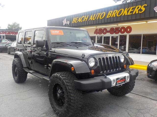 2010 JEEP WRANGLER UNLIMITED SAHARA 4X4, CERTIFIED W/ WARRANTY, RUNNING  BOARDS, TOW ...
