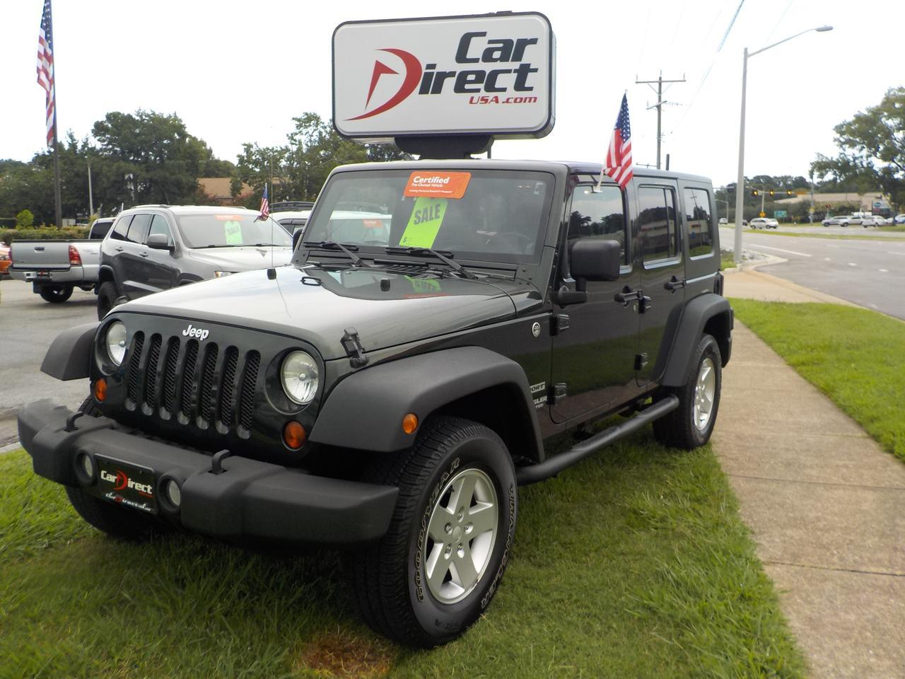 2010 jeep wrangler unlimited sport 4x4 one owner certified pre owned tow package hard top. Black Bedroom Furniture Sets. Home Design Ideas