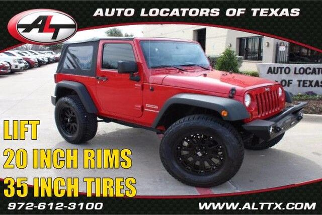 2010 Jeep Wrangler Sport with LIFT and OVERSIZED TIRES Plano TX