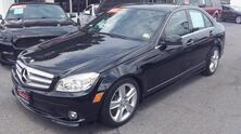 MERCEDES-BENZ C-CLASS 300 SPORT, AUTOCHECK CERTIFIED, BLACK ON BLACK, SUNROOF, SAT, HEATED LEATHER, ONLY 27K MILES! 2010
