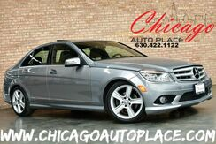 2010_Mercedes-Benz_C-Class_C 300 Luxury - 3.0L V6 ENGINE 4MATIC ALL WHEEL DRIVE BLACK LEATHER HEATED SEATS DUAL ZONE CLIMATE WOOD GRAIN INTERIOR TRIM SUNROOF_ Bensenville IL