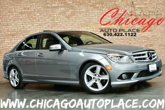2010 Mercedes-Benz C-Class C 300 Luxury - 3.0L V6 ENGINE 4MATIC ALL WHEEL DRIVE BLACK LEATHER HEATED SEATS DUAL ZONE CLIMATE WOOD GRAIN INTERIOR TRIM SUNROOF Bensenville IL