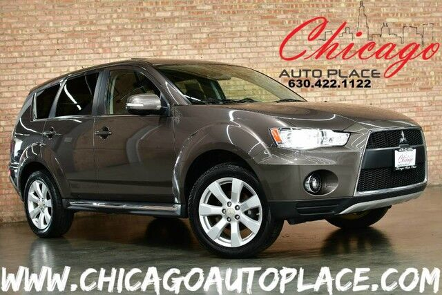 2010 Mitsubishi Outlander GT V6 - 3 0L MIVEC V6 ENGINE 4 WHEEL DRIVE BLACK  LEATHER HEATED SEATS NAVIGATION BACKUP CAMERA KEYLESS GO SUNROOF XENONS