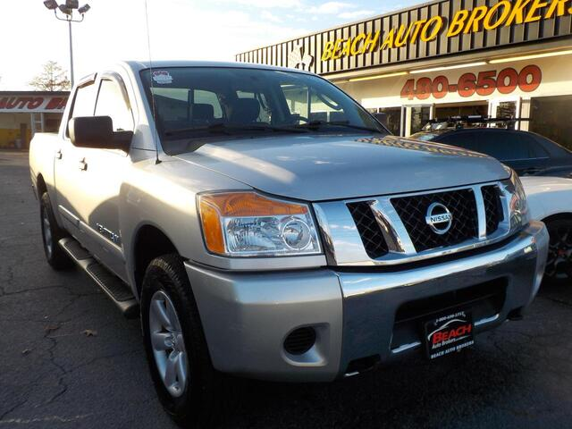 2010 NISSAN TITAN SE 4X4, BUYBACK GUARANTEE, WARRANTY,  BED LINER, RUNNING BOARDS, ONLY 79K MILES, CLEAN, VERY NICE!!! Norfolk VA