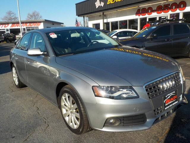 2011 AUDI A4 QUATTRO PREMIUM 2.0T, BUYBACK GUARANTEE, WARRANTY, LEATHER, SUNROOF, PARKING SENSORS, LOW MILES!!!!! Norfolk VA