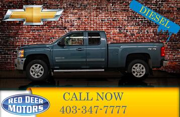 2011_Chevrolet_Silverado 2500HD_4x4 Ext Cab LTZ Diesel Leather BCam_ Red Deer AB
