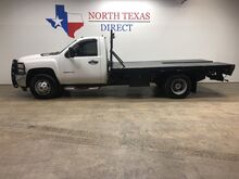 2011_Chevrolet_Silverado 3500HD_3500 HD DRW Diesel Flatbed Allison Towing Pkg Great Tires_ Mansfield TX