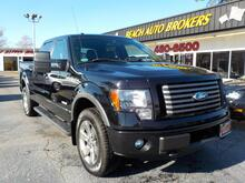 2011_FORD_F-150_FX4 SUPER CREW 4X4, WARRANTY, LEATHER, PARKING SENSORS, HEATED SEATS, RUNNING BOARDS, SUNROOF, A/C!_ Norfolk VA