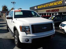 2011_FORD_F-150_FX4 SUPERCREW 4X4, CERTIFIED W/WARRANTY, LEATHER, SUNROOF, REMOTE START, HEATED SEATS, ONLY 1 OWNER!_ Norfolk VA
