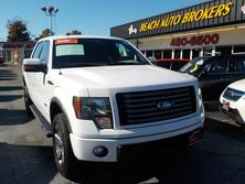 FORD F-150 FX4 SUPERCREW 4X4, CERTIFIED W/WARRANTY, LEATHER, SUNROOF, REMOTE START, HEATED SEATS, ONLY 1 OWNER! 2011