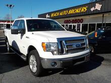 2011_FORD_F-150_LARIAT SUPER CREW 4X4,WARRANTY, LEATHER, SUNROOF, TOW PKG, RUNNING BOARDS, BACKUP CAM,HEATED SEATS!!_ Norfolk VA