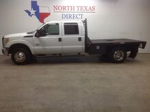 2011_Ford_Super Duty F-350 DRW_FREE DELIVERY XL 4x4 Diesel Crew Flatbed Keyless Chrome_ Mansfield TX