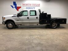 2011_Ford_Super Duty F-350 DRW_XL Dually 4x4 6.7 Diesel Skirted Flat Bed Crew Towing Aux Tank_ Mansfield TX