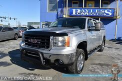 2011_GMC_Sierra 1500_SLT / Z71 Off-Road Pkg / 4X4 / 5.3L V8 / Crew Cab / Auto Start / Power & Heated Leather Seats / Bose Speakers / Aux Jack / Matching Canopy / Bed Liner / Running Boards / Chrome Wheels / Tow Pkg_ Anchorage AK