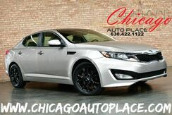 2011_Kia_Optima_EX - 2.4L GDI I4 ENGINE FRONT WHEEL DRIVE KEYLESS GO TAN LEATHER INTERIOR DUAL ZONE CLIMATE BLUETOOTH BLACK WHEELS_ Bensenville IL
