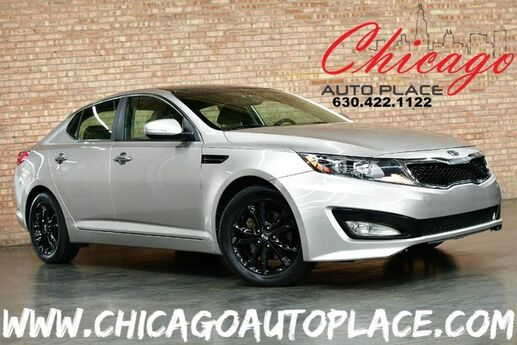 2011 Kia Optima EX - 2.4L GDI I4 ENGINE FRONT WHEEL DRIVE KEYLESS GO TAN LEATHER INTERIOR DUAL ZONE CLIMATE BLUETOOTH BLACK WHEELS Bensenville IL