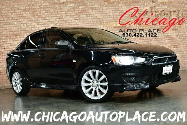 2011 Mitsubishi Lancer GTS - 2.4L MIVEC I4 ENGINE FRONT WHEEL DRIVE CVT TRANSMISSION BLACK LEATHER HEATED SEATS SUNROOF XENONS ROCKFORD FOSGATE AUDIO Bensenville IL