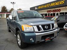 2011_NISSAN_TITAN_SL 4X4, CERTIFIED W/WARRANTY, LEATHER, NAV, TONNEAU COVER, DVD PLAYER, HEATED SEATS, ONLY 1 OWNER!!!_ Norfolk VA