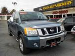 2011 NISSAN TITAN SL CREW CAB 4X4, BUYBACK GUARANTEE, WARRANTY , LEATHER, NAV, DVD PLAYER, ONLY 1 OWNER!!!