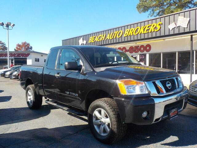 2011 NISSAN TITAN SV KING CAB 4X4, BUYBACK GUARANTEE, WARRANTY,  RUNNING BOARDS, TONNEAU COVER, ONLY 1 OWNER!! Norfolk VA