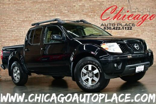 2011 Nissan Frontier PRO-4X CREW CAB - 4.0L V6 ENGINE 4 WHEEL DRIVE BLACK LEATHER W/ RED STITCHING HEATED SEATS SUNROOF ROOF RAILS BLACK BED COVER Bensenville IL