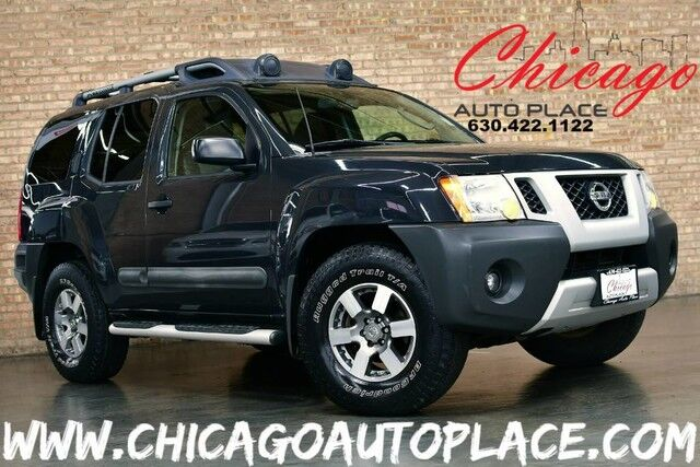 2011 Nissan Xterra Pro-4X - 4.0L V6 ENGINE 4 WHEEL DRIVE 1 OWNER GRAY LEATHER W/ RED STITCHING PRO-4X OFF ROAD SEATS PREMIUM ALLOY WHEELS Bensenville IL