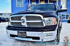2011_Ram_1500_Laramie / 4X4 / Crew Cab / 5.7L HEMI V8 / Heated & Ventilated Leather Seats / Heated Steering Wheel / Navigation / Sunroof / Auto Start / Alpine Speakers & Subwoofer / Back-Up Camera / Bed Liner / Tow Pkg_ Anchorage AK