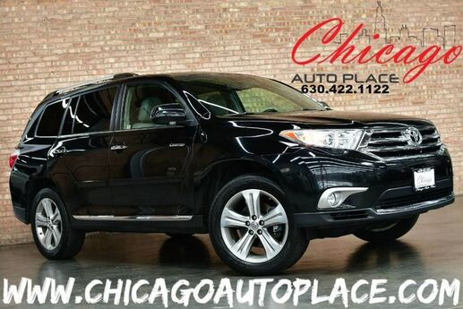 2011 Toyota Highlander Limited - 3.5L VVT-I V6 ENGINE 4 WHEEL DRIVE KEYLESS GO 3RD ROW SEATS GRAY LEATHER HEATED SEATS SUNROOF POWER LIFTGATE Bensenville IL