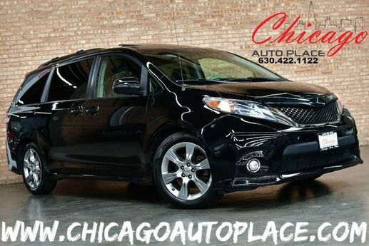 2011 Toyota Sienna SE - 3.5L V6 ENGINE 1 OWNER FRONT WHEEL DRIVE BLACK LEATHER/CLOTH INTERIOR BACKUP CAMERA 3RD ROW SEATING DUAL REAR SLIDING DOORS SUNROOF POWER LIFTGATE Bensenville IL